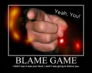 Blame Game: Pointing Finger